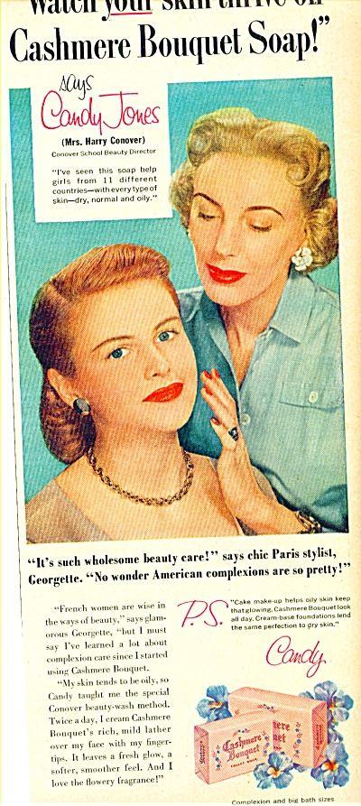 candy jones cashmere soap advertisment
